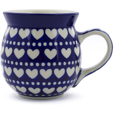 Polish Pottery Bubble Mug 16 oz Heart To Heart