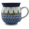 Polish Pottery Bubble Mug 16 oz Pocono Pines