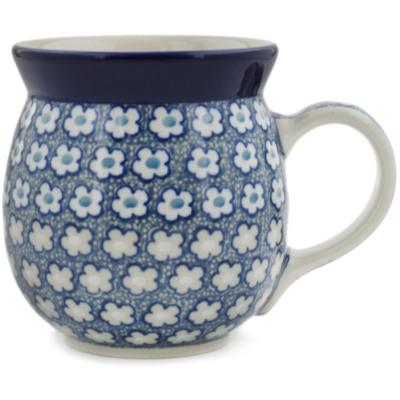 Polish Pottery Bubble Mug 16 oz Popping Blues UNIKAT