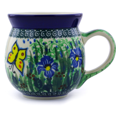 Polish Pottery Bubble Mug 16 oz Spring Garden UNIKAT