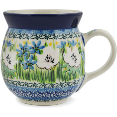 Polish Pottery Bubble Mug 16 oz Spring Morning UNIKAT