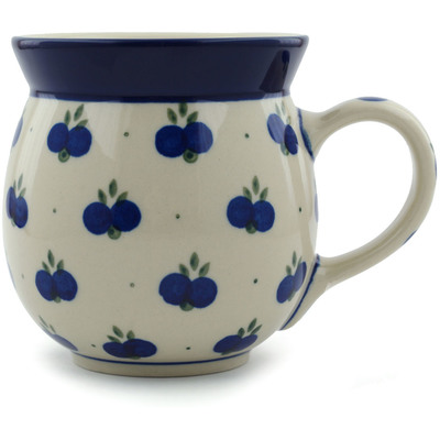Polish Pottery Bubble Mug 16 oz Wild Blueberry