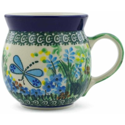 Polish Pottery Bubble Mug 8 oz Garden Delight UNIKAT