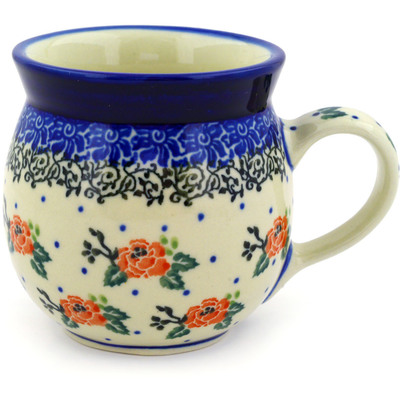 Polish Pottery Bubble Mug 8 oz Pasadena Delight