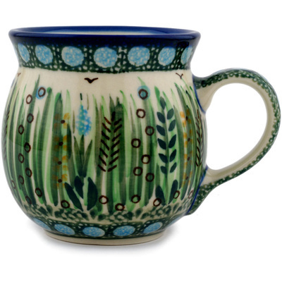 Polish Pottery Bubble Mug 8 oz Prairie Land UNIKAT