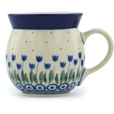 Polish Pottery Bubble Mug 8 oz Water Tulip