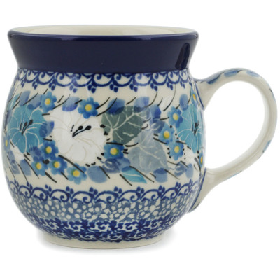Polish Pottery Bubble Mug 8 oz Wedding Bouquet UNIKAT