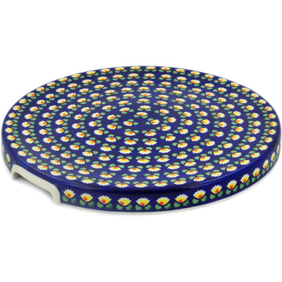 "Polish Pottery Cake Stand 13"" Waterlily"