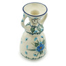 "Polish Pottery Candle Holder 6"" Forget Me Not UNIKAT"