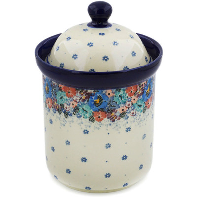 "Polish Pottery Canister 8"" Autumn Bunch UNIKAT"