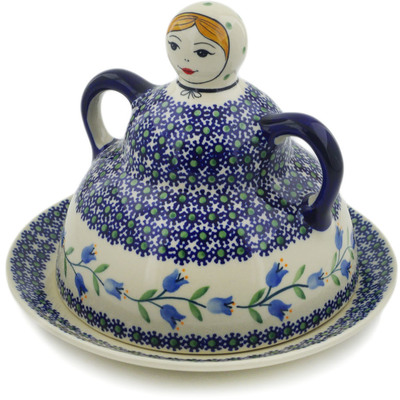 "Polish Pottery Cheese Lady 7"" Sweet Dreams"