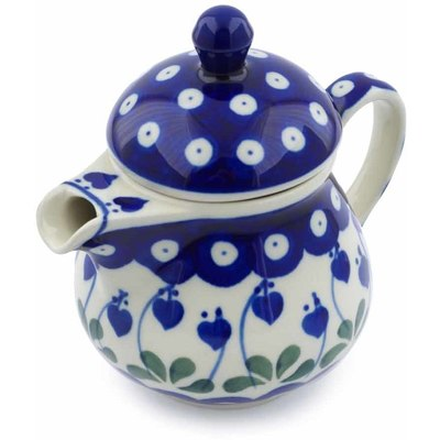 Polish Pottery Coffee server Bleeding Heart Peacock