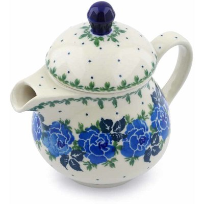 Polish Pottery Coffee server Blue Garland