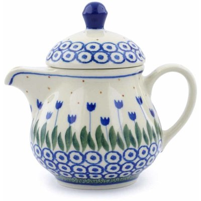 Polish Pottery Coffee server Blue Tulip Circle