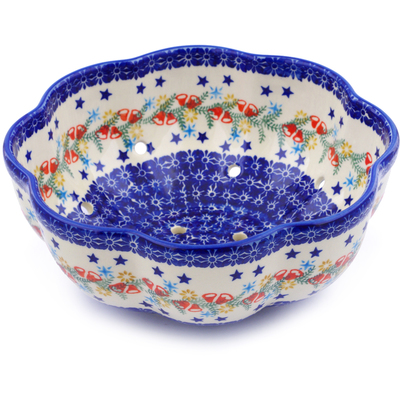 "Polish Pottery Colander 9"" Wreath Of Bealls"