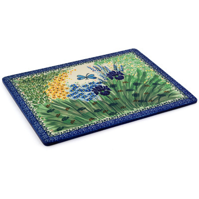 "Polish Pottery Cookie Sheet 13"" Dragonfly Bounty UNIKAT"