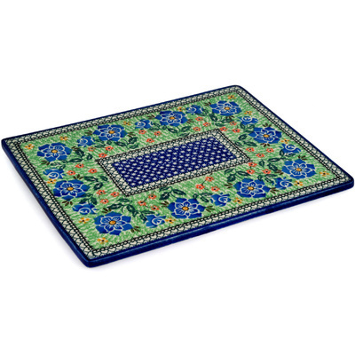 "Polish Pottery Cookie Sheet 13"" Presence Of Love UNIKAT"