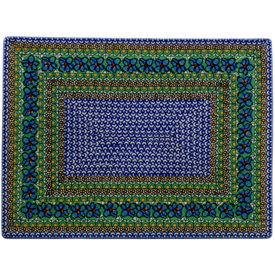 "Polish Pottery Cookie Sheet 15"" Mardi Gra UNIKAT"