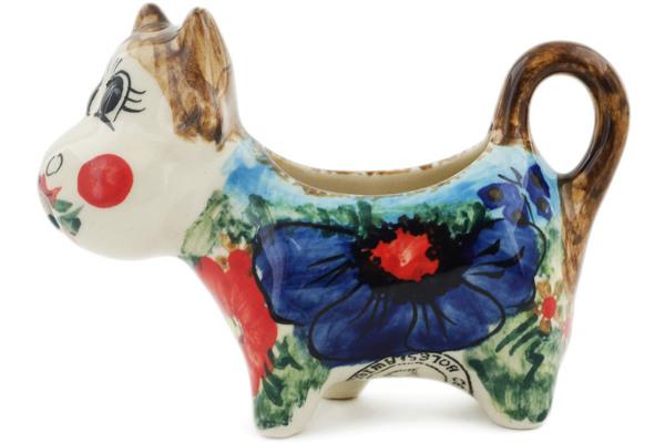 UNIKAT Signature Rembrandt Pattern! Polish Pottery Cow Creamer