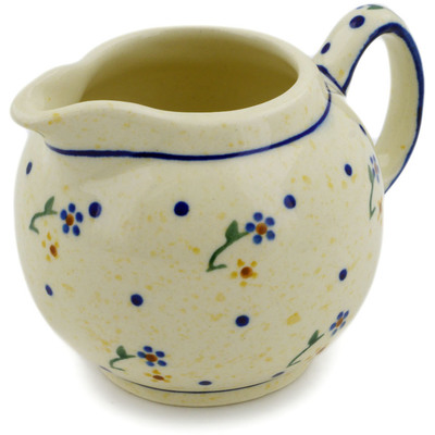 Polish Pottery Creamer 10 oz Country Meadow