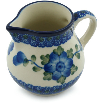 Polish Pottery Creamer 7 oz Blue Poppies