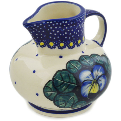 Polish Pottery Creamer 7 oz Flower In The Grass UNIKAT