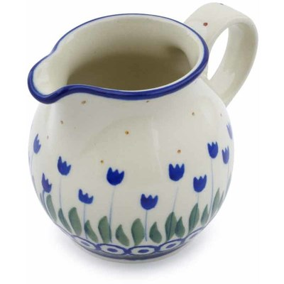 Polish Pottery Creamer Small Water Tulip