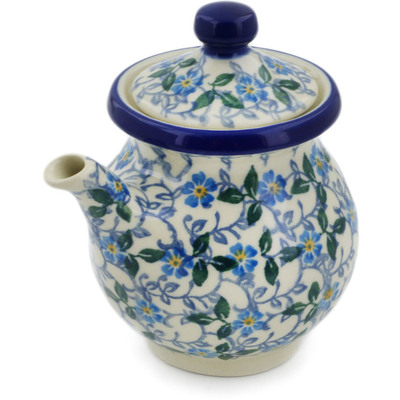 Polish Pottery Creamer with Lid 7 oz Summer Wind