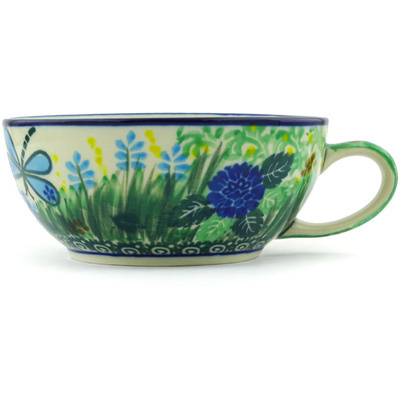 Polish Pottery Cup 10 oz Garden Delight UNIKAT