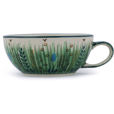 Polish Pottery Cup 10 oz Prairie Land UNIKAT