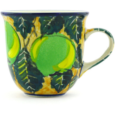 Polish Pottery Cup 6 oz Apple Tree UNIKAT