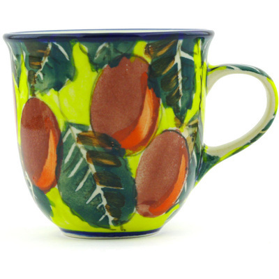 Polish Pottery Cup 6 oz Fall Feast UNIKAT