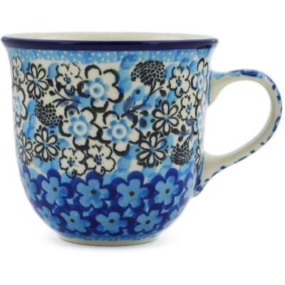 Polish Pottery Cup 6 oz Out Of Blue UNIKAT