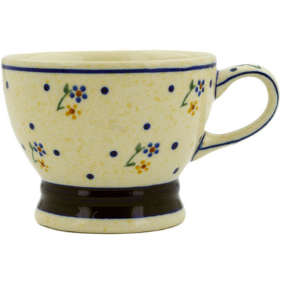 Polish Pottery Cup 8 oz Country Meadow