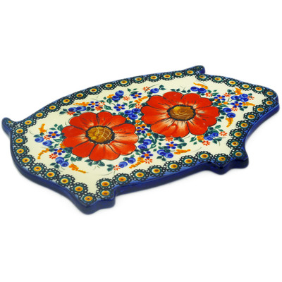"Polish Pottery Cutting Board 11"" Autumn Garden"