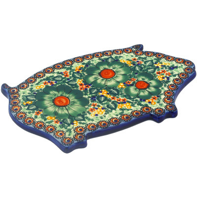 "Polish Pottery Cutting Board 11"" Bloom & Wild"
