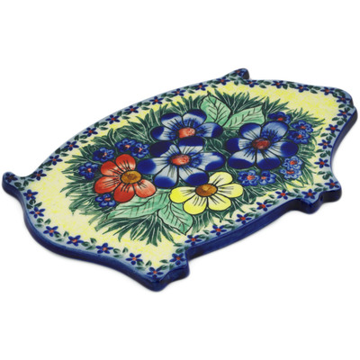 "Polish Pottery Cutting Board 11"" Summer Happiness"