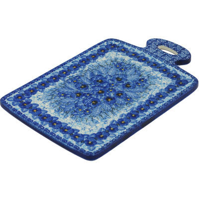 "Polish Pottery Cutting Board 12"" Deep Winter UNIKAT"