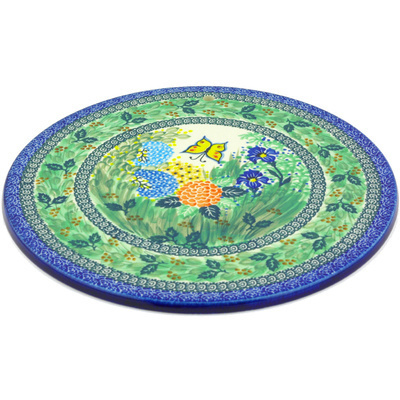 "Polish Pottery Cutting Board 13"" Spring Garden UNIKAT"