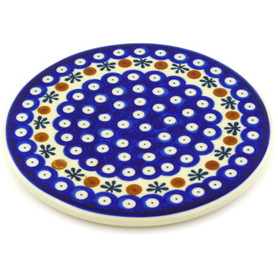 "Polish Pottery Cutting Board 7"" Mosquito"
