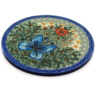 "Polish Pottery Cutting Board 8"" Butterfly Holly UNIKAT"