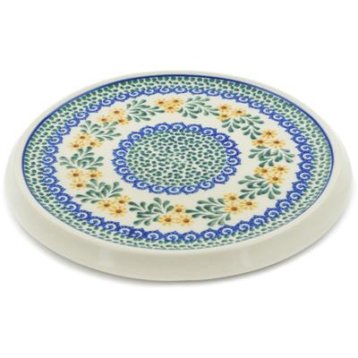 "Polish Pottery Cutting Board 8"" Summer Day"
