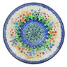 Polish Pottery Dessert Plate Colors Of The Wind UNIKAT