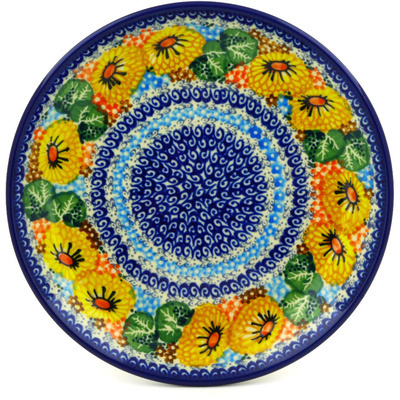 Polish Pottery Dessert Plate Enchanted Spring UNIKAT