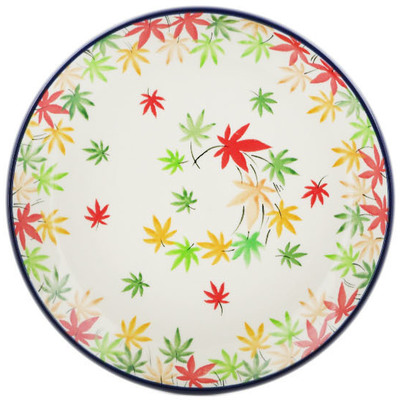 Polish Pottery Dessert Plate Fall Season Bliss UNIKAT