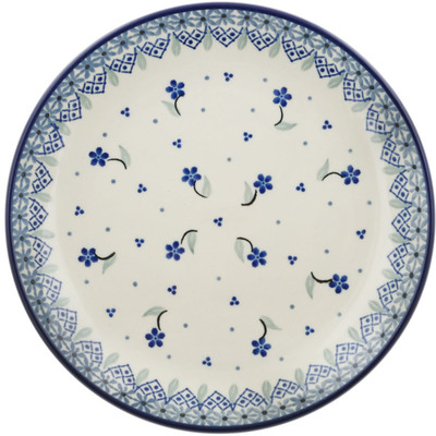 Polish Pottery Dessert Plate Floral Excitement