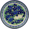 Polish Pottery Dessert Plate Forget Me Not Meadow UNIKAT