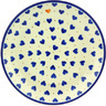 Polish Pottery Dessert Plate Heart Of Hearts