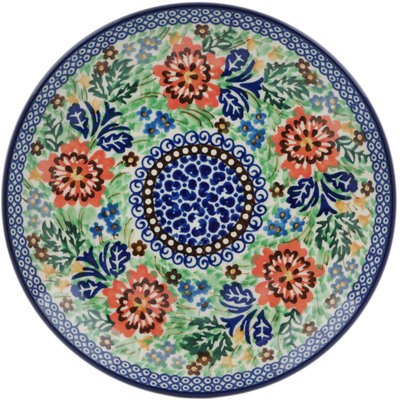 Polish Pottery Dessert Plate Lovely Spring Day UNIKAT