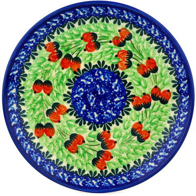 Polish Pottery Dessert Plate Seeds Of Autumn UNIKAT